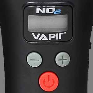close-up of buttons on Vapir NO2