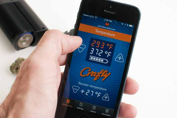 Crafty is one of many new vaporizers on the market to offer app controls over your phone, via Bluetooth.
