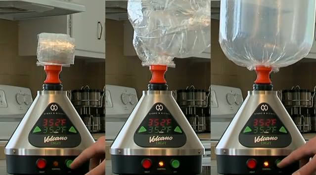 Volcano Bag Inflating With Vapor