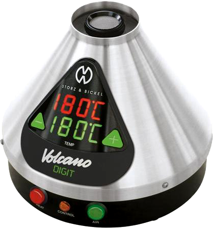 The Volcano Digit, with digital buttons to adjust temperature
