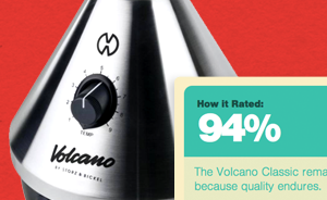 Volcano vaporizer review: 94%