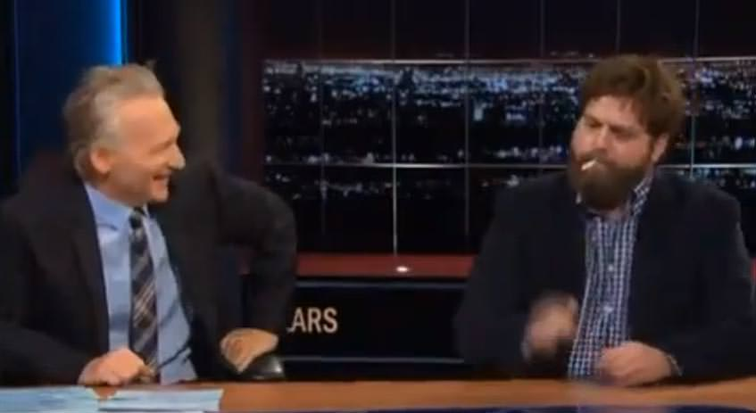 Zach-Galifianakis-Smokes-Joint-on-Bill-Maher